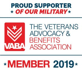Veterans advocacy & benefits association badge.